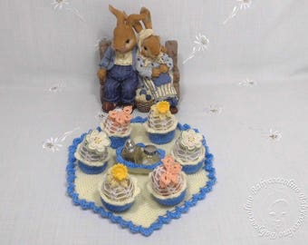 Egg cup, table decoration, Easter breakfast, Easter, crocheted egg cup