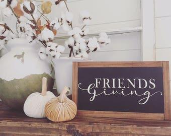 FRIENDSgiving wood sign
