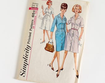 Vintage 1960s Womens Size 40 One Piece Dress with Two Skirts Simplicity Sewing Pattern 5751 UNCUT / b42 w34 / Fitted Bodice Open Collar