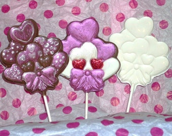 Valentine's Day Chocolate Bouquet of Hearts lollipops or favors