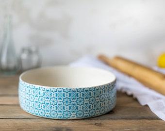 Ceramic Bowl, Kitchen Bowls, Geometric Printed Pan, Pottery Bowls, Salad Bowl, Ceramic Serving Dishes, Ceramic Tableware, Mother's Day Gift