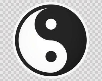 Decals sticker Martial Arts Martial Arts Yin And Yang  陰陽 bright-dark positive-negative Taiji philosophy 03810