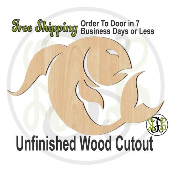 Pisces - 430002- Zodiac Cutout, unfinished, wood cutout, wood craft, laser cut shape, wood cut out, Horoscope, wooden, Feb 19 - Mar 20