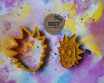 Rick (Rick and Morty) 2 Piece Cookie Cutter // 2 sizes //