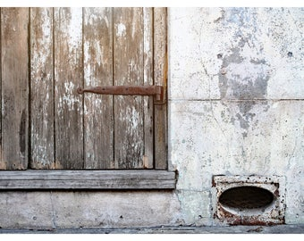 door photography, French Quarter, New Orleans, Louisiana, NOLA art print, architecture print, rustic home decor, travel photography, 12x18