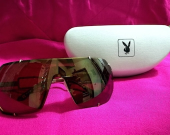 Playboy glasses, anni80, gilded metal., Free Shipping