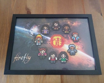 Handmade Firefly Inspired Framed Picture