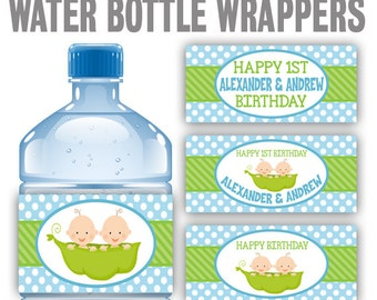 WBW2-388: DIY - Peas On A Pod 2 Water Bottle Wrappers