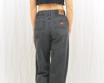 Vintage Black Dickies Jeans, Size XS, Grunge, Workwear, 90's Clothing, High Waisted Work Pants