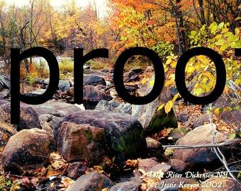 Purple Rocks With Lichen In Fall Adirondacks, Deer River, Digital photo/print  many copies