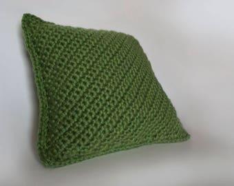 Soft Crochet Pillow/OK City Green