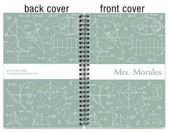 2018 18 month custom planner, Start any month, 2018 2019 personalized weekly planner,  18 month academic planner, SKU: epi math w