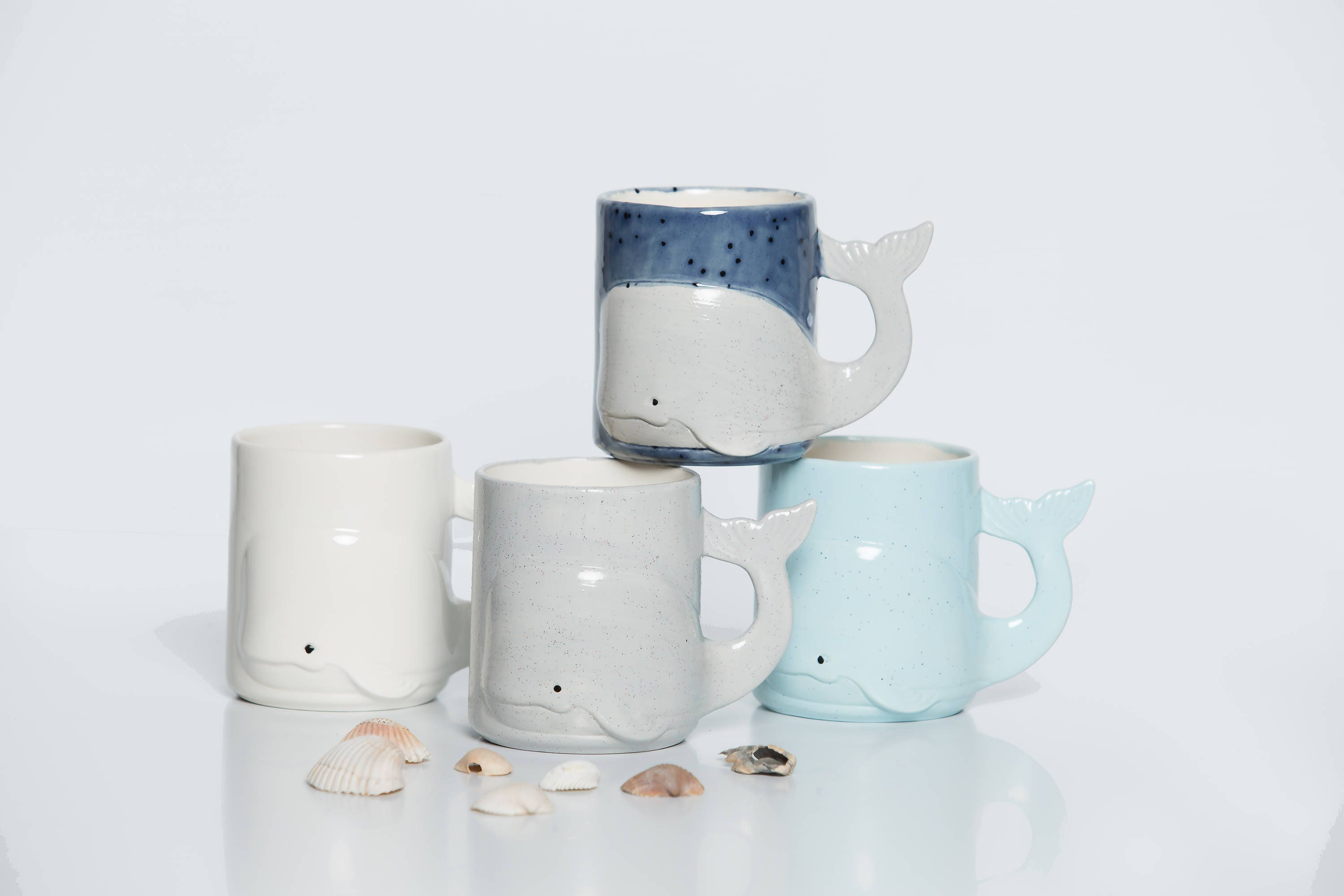 Whale Mug Beach Large Ceramic Coffee Mug handmade from my