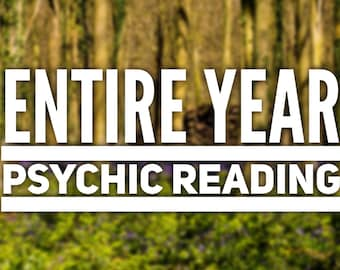 Entire Year Psychic Reading - Detailed Same Day 24 Hours Reading by clairvoyant medium