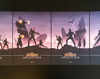 Avengers Infinity war 4 posters