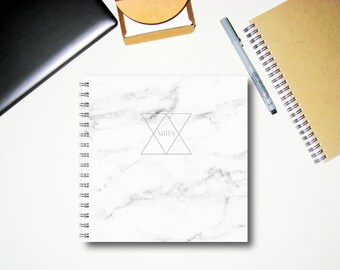 Carnet de notes - marbre - Journal à la main - journal intime - carnet de croquis - cadeau pour les hommes - écriture journal - Journal du Collège