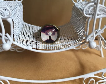 Vintage doll dome style ring