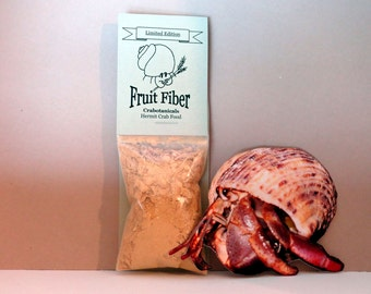Hermit Crab Food Fruit Fiber All-natural pet food by Crabotanicals