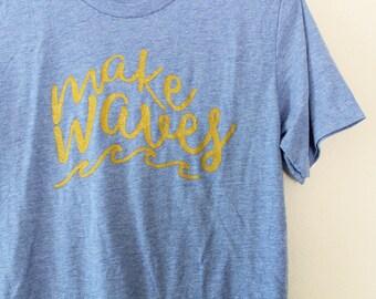 Make Waves Women's Graphic Tee/Tank
