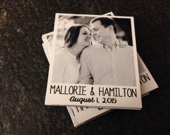 "Custom Photo Magnets - Save the Date - Weddings - Anniversary - Baby Announcement - 2"" x 2.25"" Size"