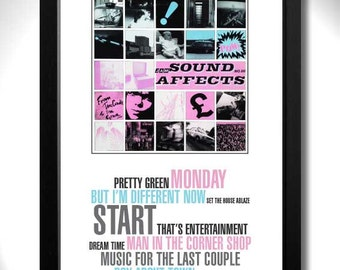 THE JAM - Sound Affects Album Limited Edition Unframed A4 Art Print with Song Titles