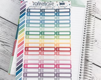 S-719 || WEIGHT WATCHERS Stickers for planner (54 Removable Matte Stickers)