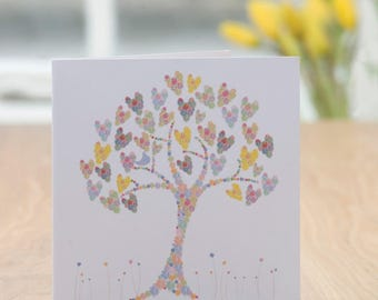 Hearts & Flowers Card