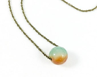 Agate Bead Necklace Agate Stone Necklace Agate Necklace for Women Simple Jewelry Organic Jewelry Earthy Jewelry Natural Jewelry Gift for Her