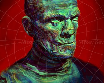 Boris Karloff as The Mummy by Mikey Sevier