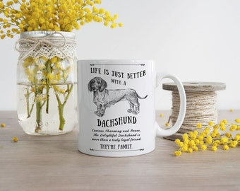 Dachshund Mug ~ Perfect Gift can be personalised