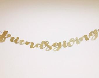 Custom Banner - personalized banner- cursive- party decor - birthday decor - bridal shower - wedding - calligraphy- baby shower text glitter