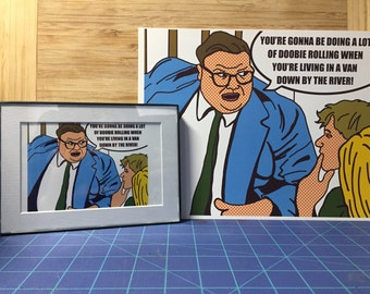 "Chris Farley - SNL Motivation Speaker ""When You're Living In A Van Down By The River"" Pop...ish Art (8.5 x 11 Print)"