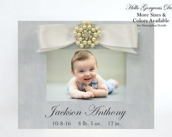 Baby Gift Newborn Picture Frame Personalized New Baby Boy Photo Frame Custom Nursery Decor Baby Keepsake Baby Shower Gift Ideas Push Present