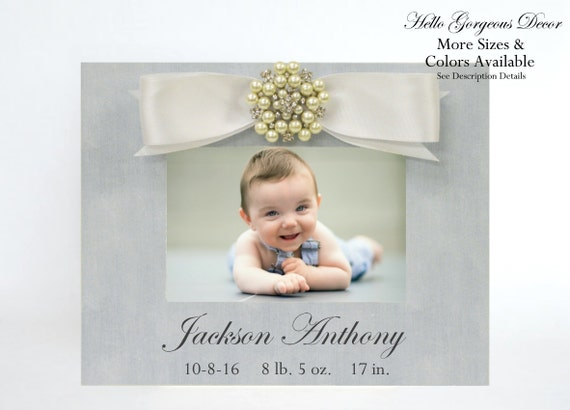 Baby gift newborn picture frame personalized new baby boy photo baby gift newborn picture frame personalized new baby boy photo frame custom nursery decor baby keepsake baby shower gift ideas push present from negle Image collections