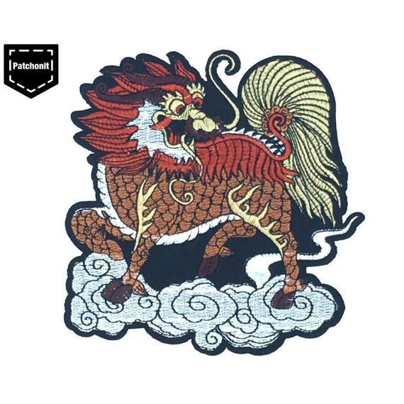 Japanese Patch Tiger Patch Chinese Lion Patch Large Unicorn
