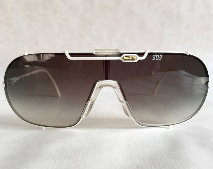 Cazal 903 Col 70 Vintage Sunglasses New Old Stock including 2 Lenses, 2 Pagers, Cazal Glass Sign & Cazal Display