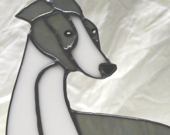 Stained glass Greyhound