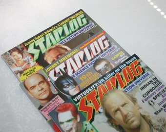 Three Vintage Starlog Magazines The Science Fiction Universe July and September 1995 February 1996