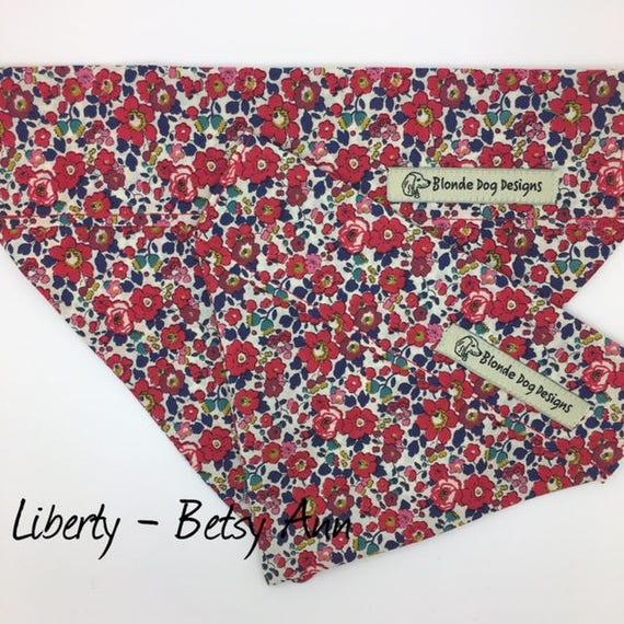 Liberty Dog Bandana, Betsy Ann, Liberty Neckerchief, Liberty Bandana, Pretty Bandana, Floral Bandana