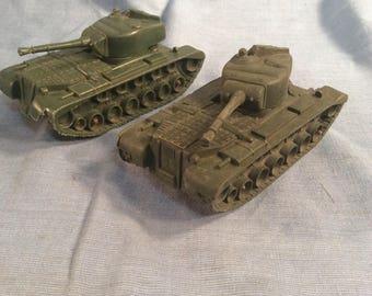 Marx WWII Battleground Playset  Tank Lot
