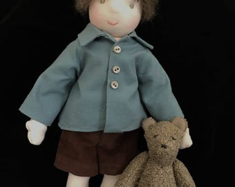 Christopher Robin and Pooh Waldorf doll