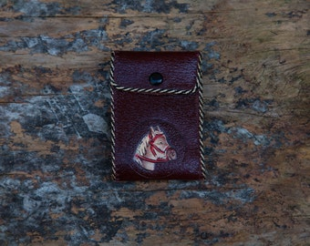 Vintage Hand Tooled Leather Western Wallet