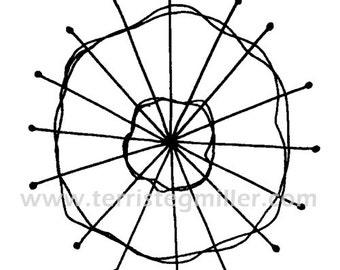 Thermofax Screen - Circle Motif 7