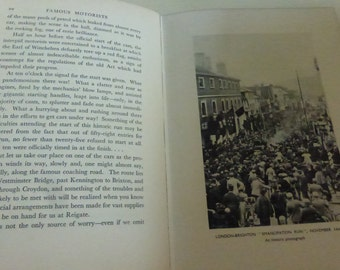 Vintage Book Sir Malcolm Campbell's Book of Famous Motorists  by R.S. Lyons Edited by Sir Malcolm Campbell