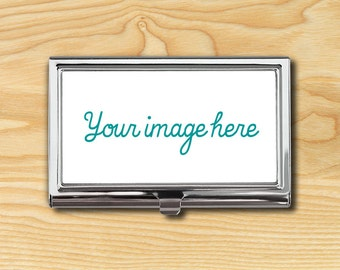 Personalized Business Card Case - Custom Business Card Case - Custom Photo - Business Card Holder - Metal Card Case - Business Card Wallet