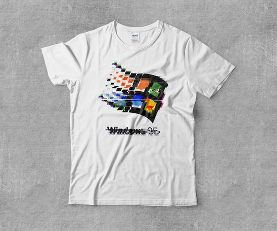 Windows 95 Microsoft Win95 Vaporwave Aesthetic Glitch Retro