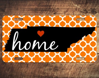 HOME Tennessee License Plate TN Heart Custom Nashville Car Tag Monogram Tag Customized Car Plate Personalized Gift - Customize your own!