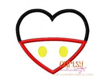 Valentine Embroidery Designs, Valentine Applique Design, Mouse Applique Design, Heart Applique Design