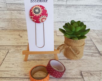 Bookmark - Button Bookmark - Paperclip Bookmark - Book accessories - Planner Accessories - Giant Paperclip Bookmark - Scarlet Collection