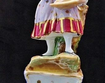 French Paris Porcelain Jacob  Petite  FIgurine Perfume Bottle